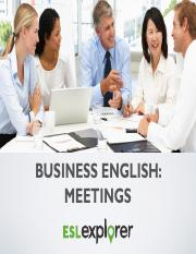 business meeting expression (week 8)