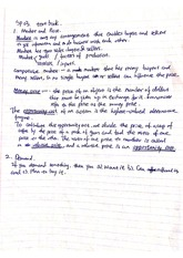 Supply and Demand Lecture 4 Class Note