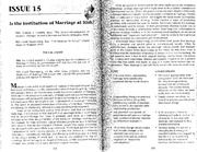 fcs309 institution of marriage article