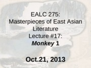 EALC 275_Lecture 17_Monkey