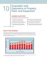 Chapter 10 - Acquisition and Disposition of Property, Plant, and Equipment (1)