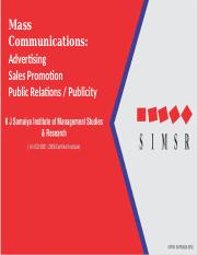 mass and personal communication