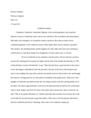 Cinderella Files essay