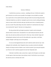 1 Pages Interview Reflection Example 2