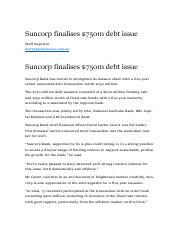 Suncorp finalises $750m debt issue.pdf