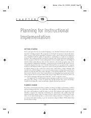Chapter 6 Designing Effective Instruction Morrison Gary R Pdf Morrison C H A P T E R C06 Tex V2 8 47 P M 6 Designing The Instruction Sequencing Course Hero