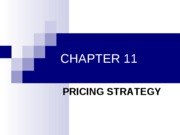 Chapter 11 - Pricing Strategy