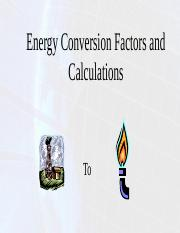 Energy Conversion Factors and Calculations - Fall 2015.pptx