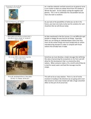 Impacts of growth on the ecosystem Slides and Notes in Word Document