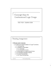 L3 - Karnaugh Maps & Combinational Logic Design