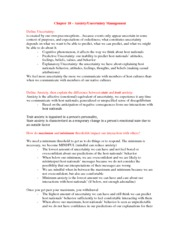 Chapter 18 - Anxiety Uncertainty Management Worksheet