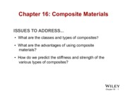 Chapter 16 - Composite Materials