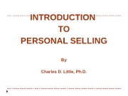 Intro to Personal Selling (1)