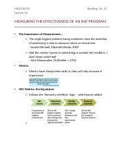 Lecture 14 - MEASURING THE EFFECTIVENESS OF AN IMC PROGRAM
