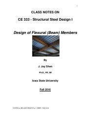 CE 333 Class note on Beam Design(6)
