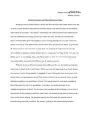 Family and Natural Resources Paper