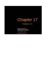 Excel Solutions - Chapter 17
