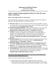 SAMPLE_QEP Science Writing Assignment_Bio 127 and 128