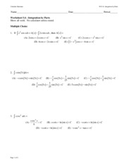 WS 05.4 Integration by Parts