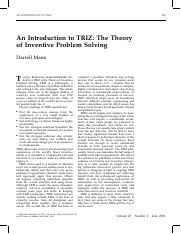 An Introduction to TRIZ - The Theory of Inventive Problem Solving.pdf
