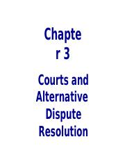Chapter 3 (Courts & ADR)(2)