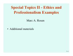 Lecture 22 Section 001-Rosen - Special Topics II - Ethics and Professionalism Examples
