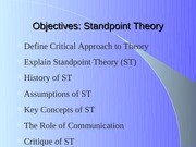 StandpointTheory