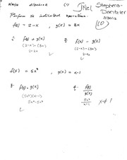 Sum, Difference, Product, and Quotient Functions Quiz