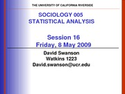 UCR SOC 005 STAT SPR 2010 Session 18  V2