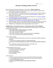 MCB Exam 2 old-practice questions-Answers