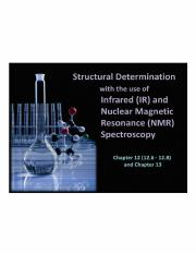 Lecture 2 - IR & NMR Spectroscopy