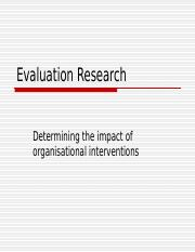 Chapter 12 (Evaluation Research)