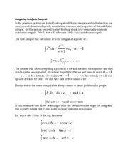 Computing Indefinite Integrals