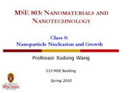 Lecture 8 - NP nucleation and growth