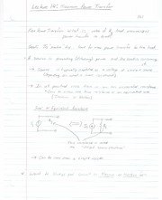 ECE 201 - Handnotes - Lecture 14 - Maximum Power Transfer - F11