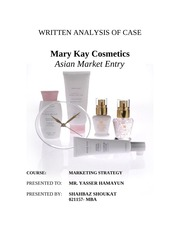 mary kay asian market entry Custom mary kay inc: asian market entry (b) hbr case study recommendation memo & case analysis for just $11 mba & executive mba level sales & marketing case memo based on hbr framework.