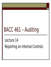 Lecture 14 reporting on internal controls.ppt