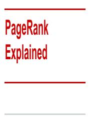 Page Rank Explained