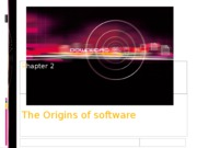 Ch2 - The Origins of software