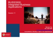 BUSS3500 Session 11