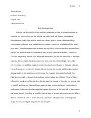 English 1000 Body Paragraph One