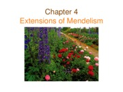 Genetics Ch04 Extensions of Mendelism