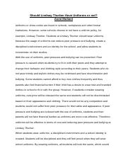 essay on unifrom