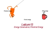 (15) Energy Conservation and Potential Energy