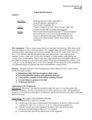 Essay 1 Reporting Information F16