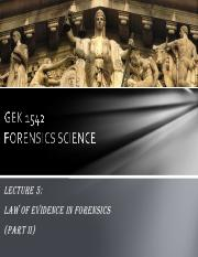 GEK 1542 - Lecture (Law of Evidence in Forensics Part 2)(Student's version).pdf
