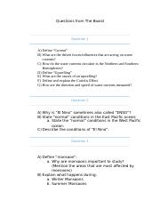 CH 8 Answers to short responses