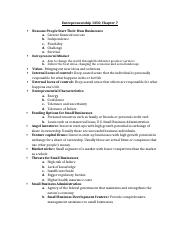 Entrepreneurship 1350- Chapter 7 Notes.docx