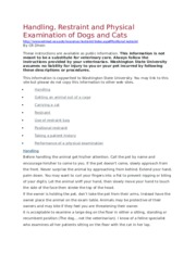 Course Overview - Handling and restraint of dogs and cats