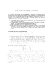 Math121 discussion - 3rd week